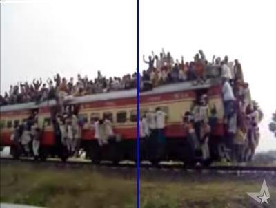 インドの列車というかインドの人口というか、インド人凄すぎる