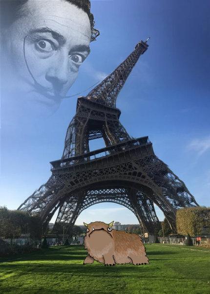エッフェル塔をパノラマモードで撮影01