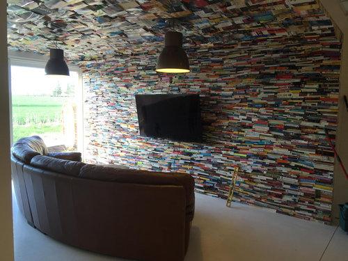 4000冊の古本でリビングをデザイン11