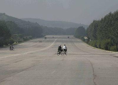 北朝鮮のラッシュアワー風景