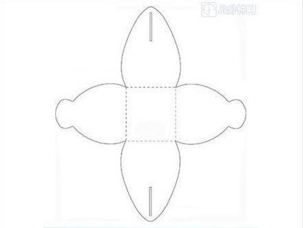 ギフトボックスの展開図14