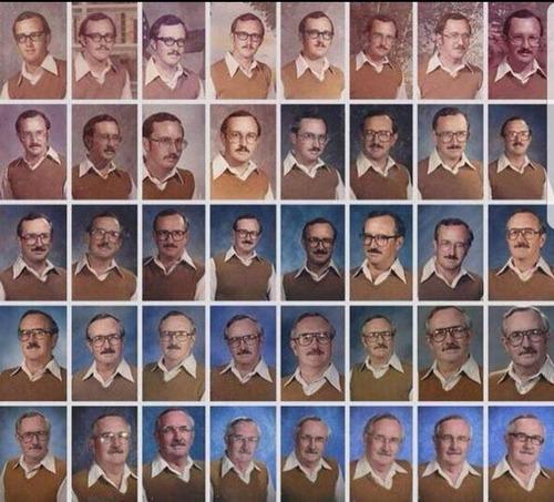 40年間アルバム写真に同じ服を着続けた先生01