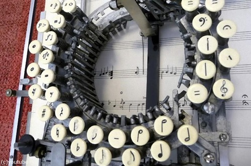 楽譜のタイプライター01