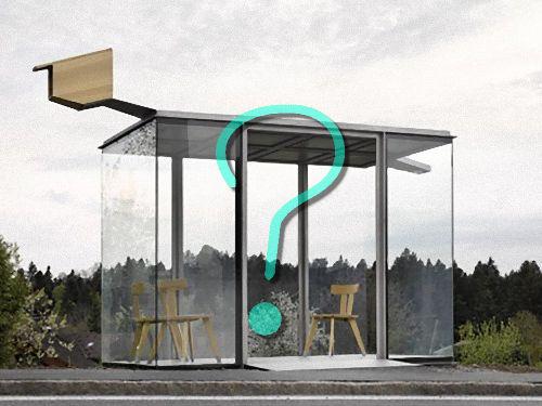 ノルウェーのバス停00