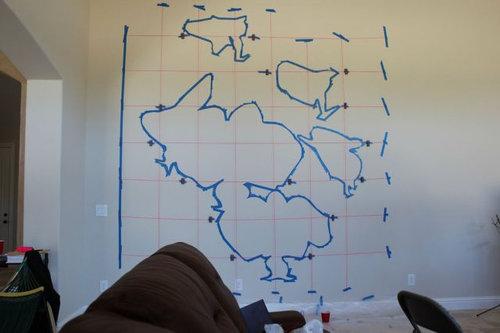 エンジニアが壁に蘭を描いた01