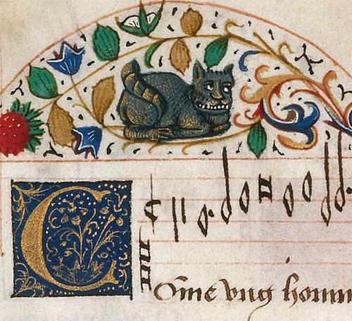 中世の絵画に登場する「猫」09