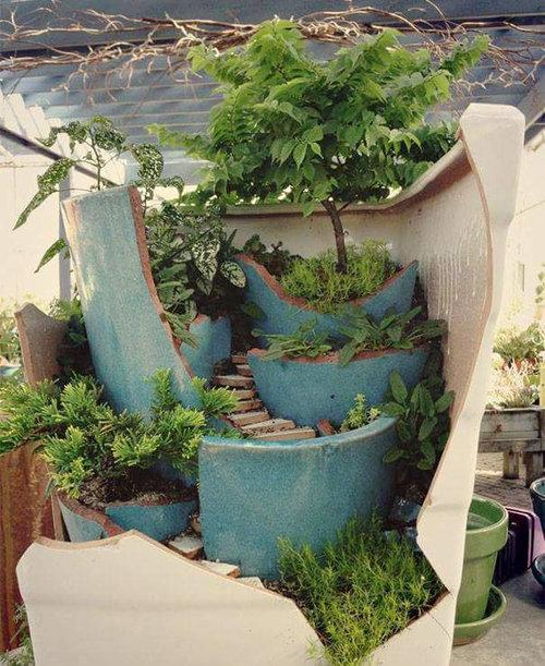 植木鉢が割れたら捨てずにこんな風にリサイクル03