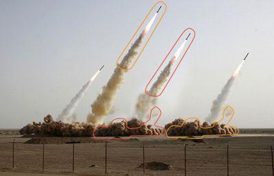 合成がバレたイランのミサイル発射、パロディ画像がエスカレート01