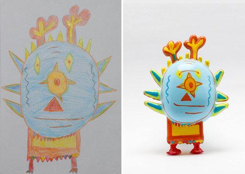 子供の絵を3Dプリンターで再現16