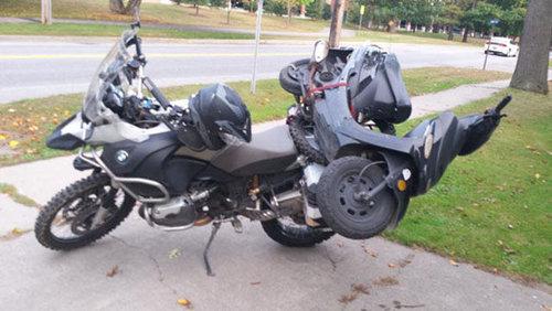 バイクで物を運ぶ限界10