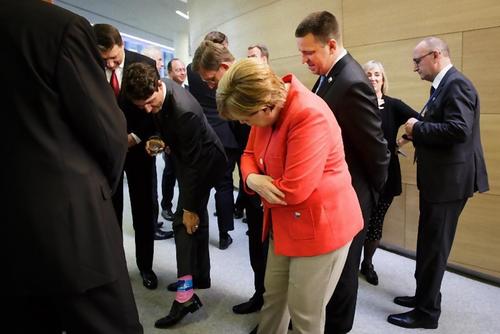 カナダ首相の靴下07