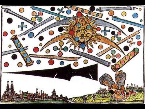 1561年の上空で謎の飛行物体が戦った記録00