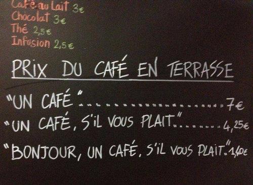 マナーの悪い客は値段が上がるカフェ01