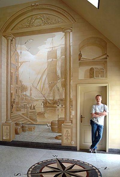 壁の絵が立体的に見えるアート04