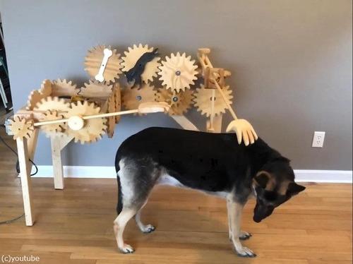 犬を自動でナデナデするマシーン02