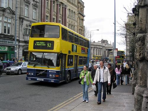 アイルランドのバスは動物可00