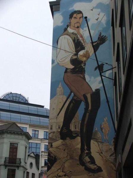 ベルギー・ブリュッセルに描かれたコミックス・グラフィティ35