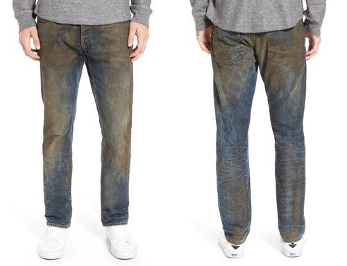 前もって汚したジーンズ03