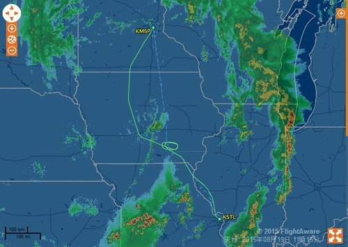 パイロットが台風で着陸やーめた03