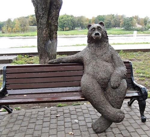 ロシアのクマの像06