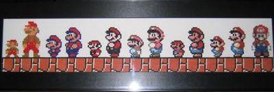 マリオの歴史のクロス−ステッチ刺繍-小