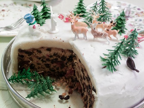 欧米のクリスマスケーキ