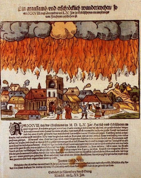 1561年の上空で謎の飛行物体が戦った記録13
