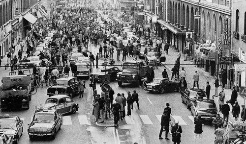 スウェーデンが左側通行から右側通行に変わった日02