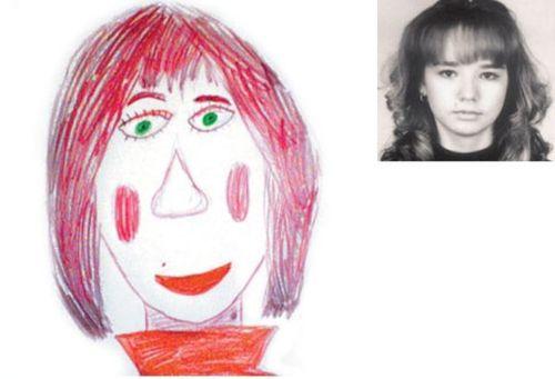 お母さんの似顔絵22
