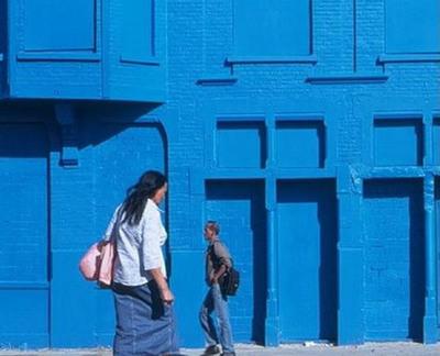 真っ青に染めてしまったロッテルダムの建物07