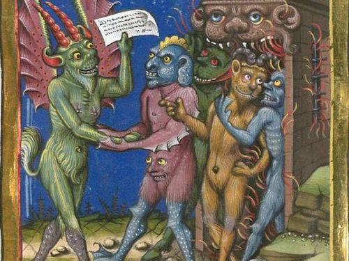 中世の本の挿絵01