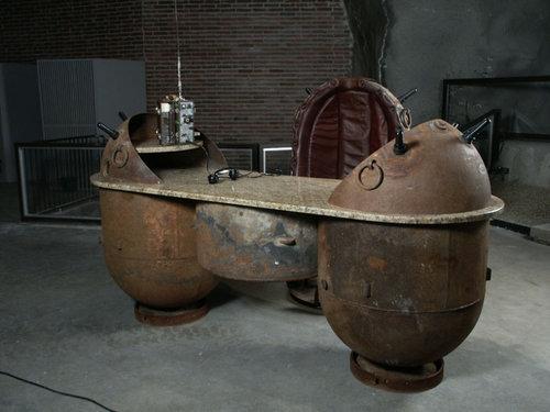 ソ連時代の「機雷」をインテリアに改造06