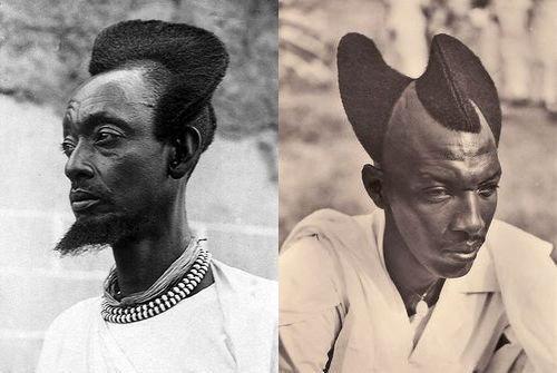 100年前のルワンダの伝統的な髪型08