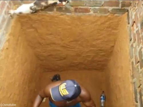 穴の下から猫を救出するつもりが05
