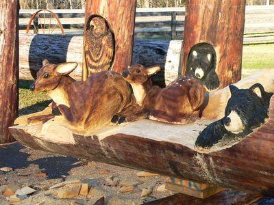 チェーンソーで木彫り14