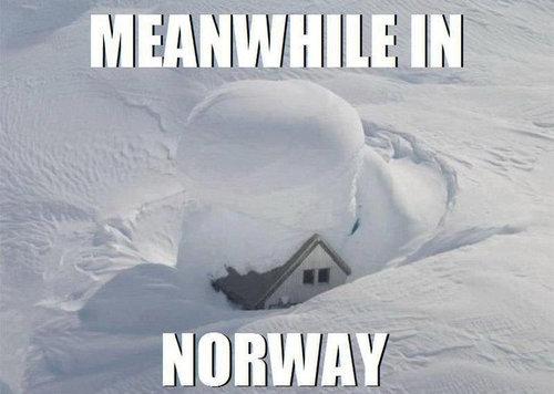 ノルウェーの雪だるま08