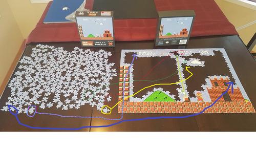 スーパーマリオのジグソーパズルを途中で挫折06