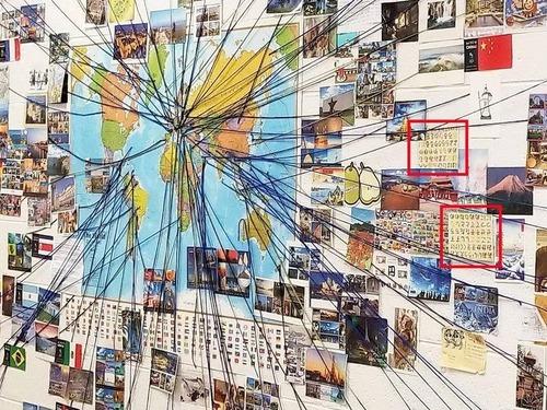 小学校で世界からの絵ハガキプロジェクト01