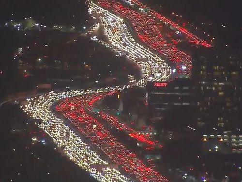 ロサンゼルスの渋滞01