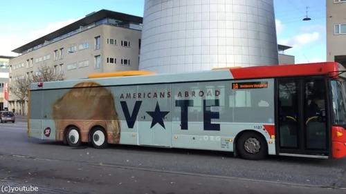 コペンハーゲンにトランプバス01