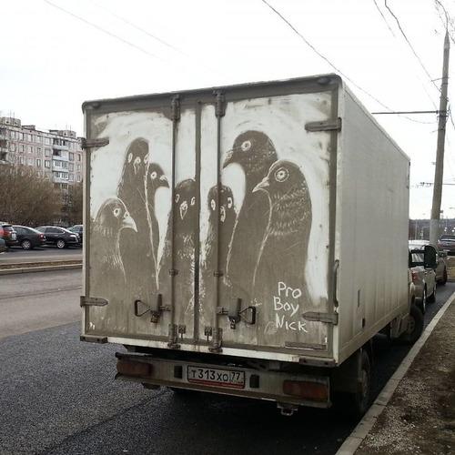 汚れたトラックアート04