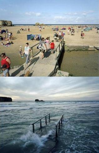 同じ場所とは思えない…干潮と満潮を比較した写真いろいろ : らばQ