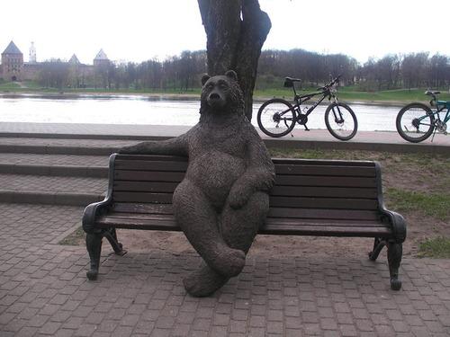 ロシアのクマの像01