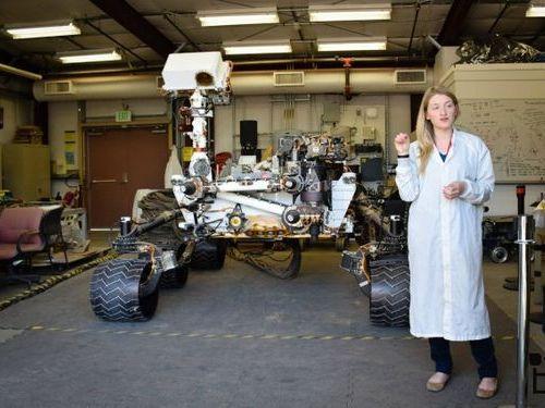 火星探査のローバー01