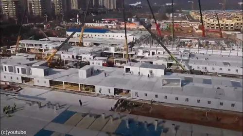 中国でコロナウイルス患者用の病院を10日で建設04