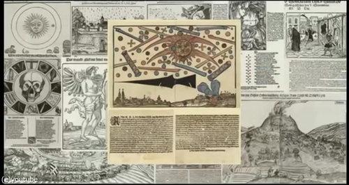 1561年の上空で謎の飛行物体が戦った記録05