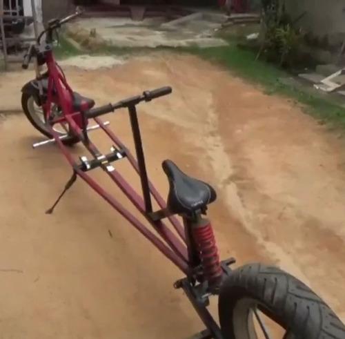 インドのパパ、バイクを魔改造04