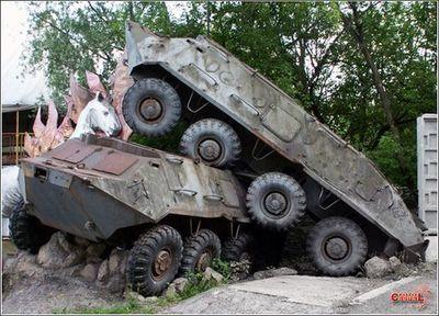 事故を起こした戦車16
