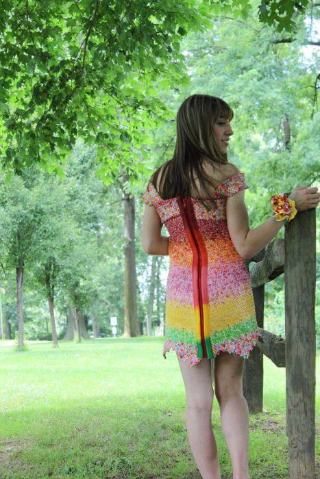 キャンディの包み紙でドレス05