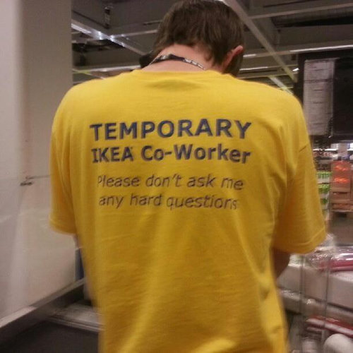 IKEAの店員のシャツ01
